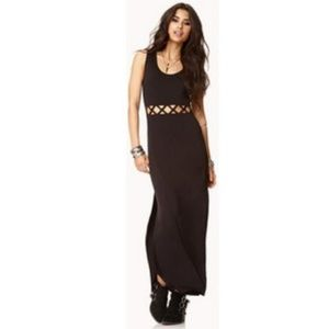 Material Girl Nordstrom Black Cutout Maxi Dress